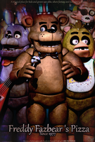 Freddy Fazbear's Pizza - Old Pizzeria Poster by GamesProduction