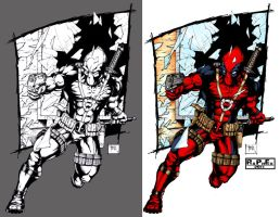 Dead pool colored by rapnex