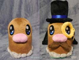 Gentlemanly Diglett Plush by SuperKawaiiStudios