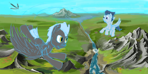 Rumble and Thunderlane WIP by HyperDashPony