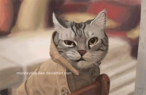 Trenchcoat Cat by monkeydoodles