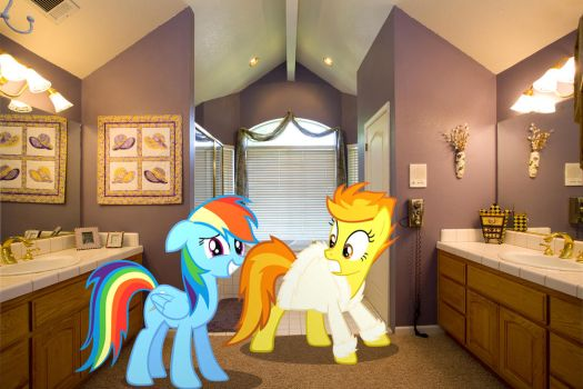 Rainbow Dash caught Spitfire by surprised. by HAchaosagent