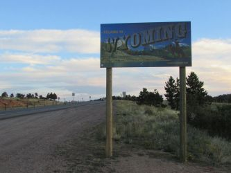 Wyoming Welcome Sign by eon-krate32