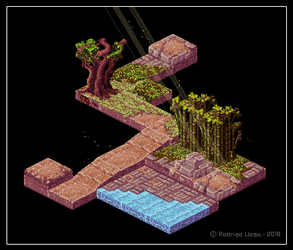 Oriental Isometric Tile Samples by Rodrigo-Vega