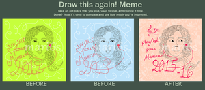CD cover - playlist for my mom - Draw this again! by mari6s