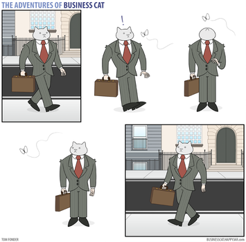 The Adventures of Business Cat - Butterfly by tomfonder