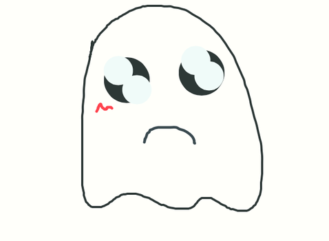 You made Mr. Ghostie sad! D : by proud-otaku-yay