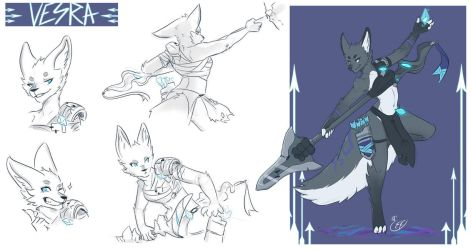 [COMMISSION SKETCH PAGE] Vesra - The Exiled by Llythium-art