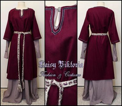 Purple and Grey Norman Gown by DaisyViktoria
