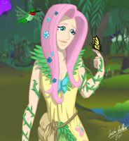 MLP: Human Druid Fluttershy by Saber-Scorpion