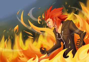 'You're too late!' Axel by Simatra