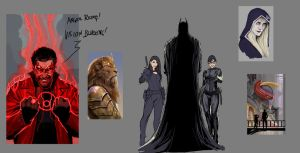lions and robots and bats ...oh my! wipdoodles by nebezial