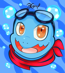 COM. Javi the Squirtle by Burn-Graphite