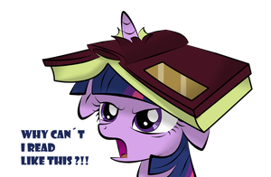 Twilight Sparkle cant read like this by V-D-K