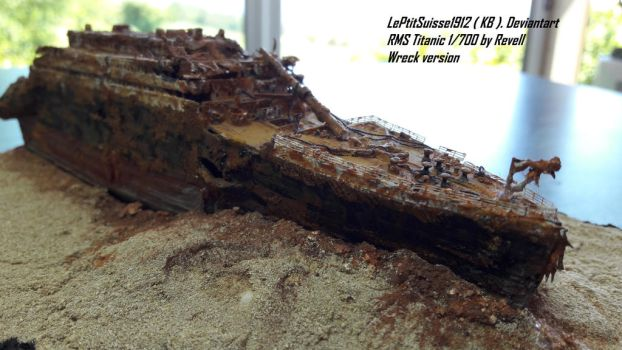 Titanic wreck, The bow Starboard side by LePtitSuisse1912