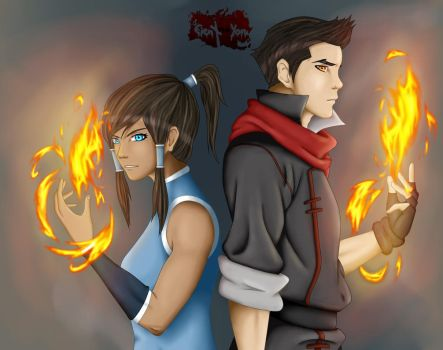 .: Who's the better Firebender :. by Eien-no-Yoru