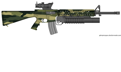 M-16 A4 Forest Op Woodland Camo by ColtM4A2
