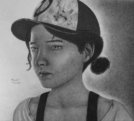 The Walking Dead Game Season 3 Clementine Drawing by HabeasArt