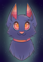 Space kitty by PsychoticMinkiePie