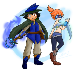 Aura Guard Ash X Demon Hunter Misty ~Commission~ by Xero-J