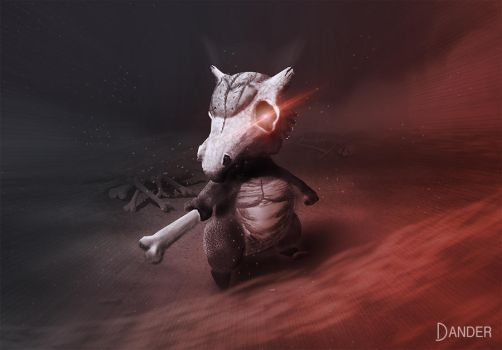 Cubone + Kabuto by The-Dander