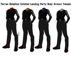 Terran Rebellion Enlisted Crew Body Armour Female by docwinter