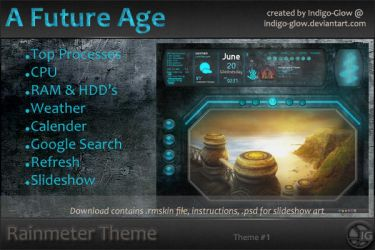 Rainmeter Theme - A Future Age by Indigo-Glow