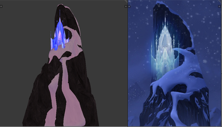 [MMD] - Frozen Northern Mountain (Wip) by King-Of-Snow