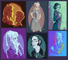 Paintings of some of our guests by Emmacabre