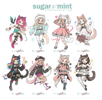 [ADOPTABLES] SUGAR and MINT [CLOSED] by arhiee