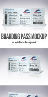Boarding Pass Mockup by doghead