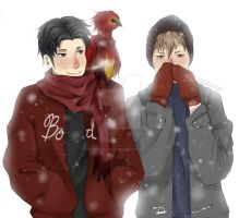 Jean and Marco (with a Phoenix) by IzaOriharaCrystal