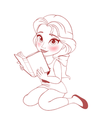 Belle - Reading Comfortably (WIP) for real by artistsncoffeeshops