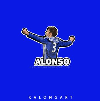 Marcos Alonso Flat design  by kalongart