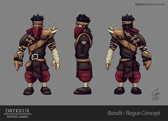 Rogue Character Concept by slipled