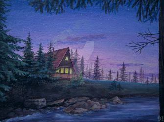 Mystery shack in the woods by Anaitmarihel