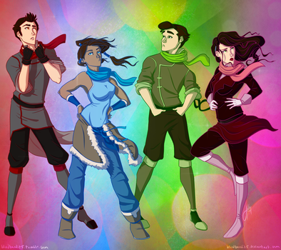 Scarves for Team Avatar Initiative by bbandittt