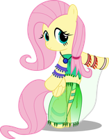 Fluttershy the belly dancer by FloofPuppy-64