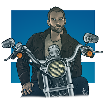 Biker!Benny by MelanieDarling