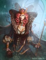Sorceress(blue color) by drawinguy