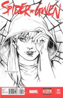 Spider Gwen sketch cover by aethibert