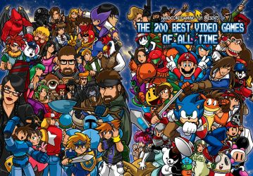 200 Best Video Games of All Time book cover by Thormeister