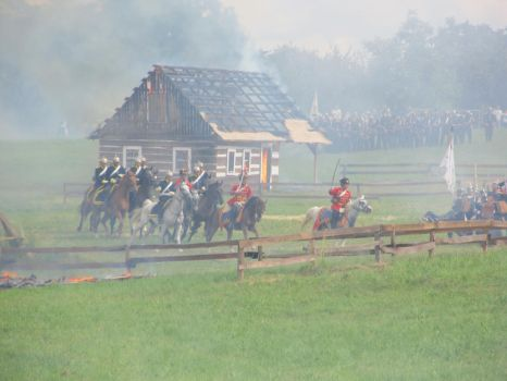 Hradec Kralove: Prussian cavalry charging by Siveir