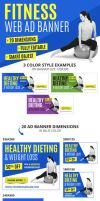 Multipurpose Fitness Web Ad Banners by webduckdesign