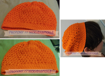 Orange X Stitch Hat by pbcpony
