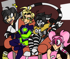 Womancave Chaos by DoodToon