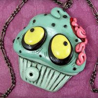Zombie Cupcake Necklace II by True-Crimeberry