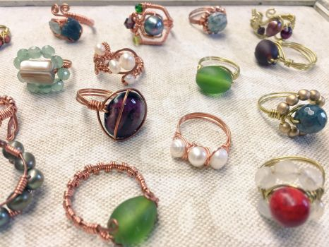 Simple Wire Ring Assortment by ElegantlyEccentric