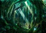 Ancient forest by TylerEdlinArt