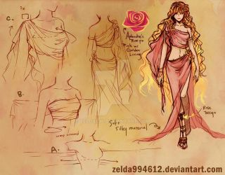 Outfit Sketch- Aphrodite by zeldacw